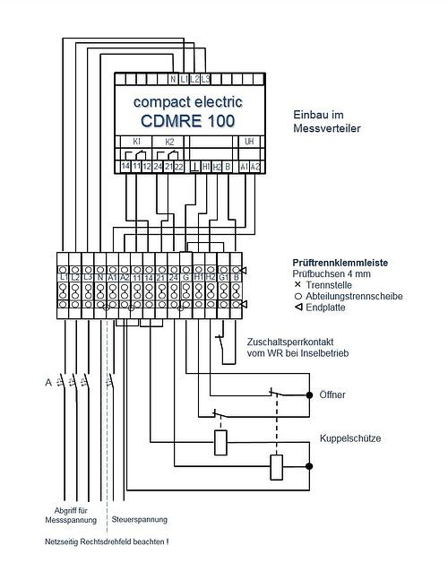 Wechselrichter Netzeinspeisung Schaltplan